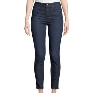 High Rise Charlie Cropped Whiskering Denim Jeans